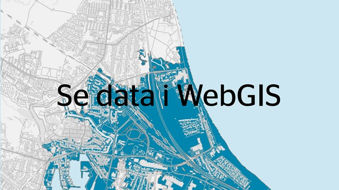 Se data i WebGIS